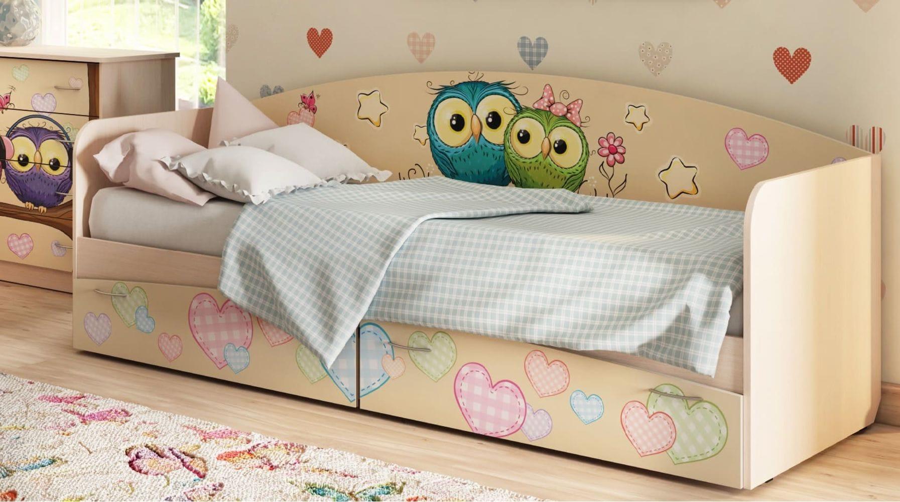 """Кровать для детской КР-1 """"Совы"""""""