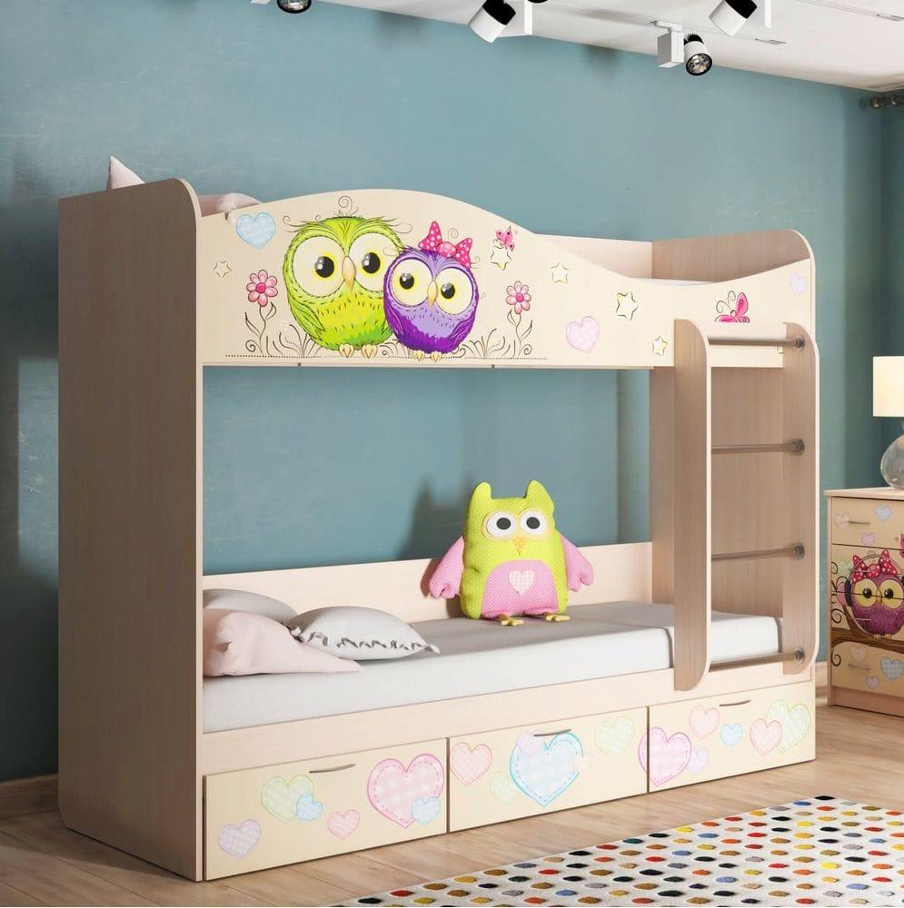"""Кровать для детской Кр-5 """"Совы"""""""