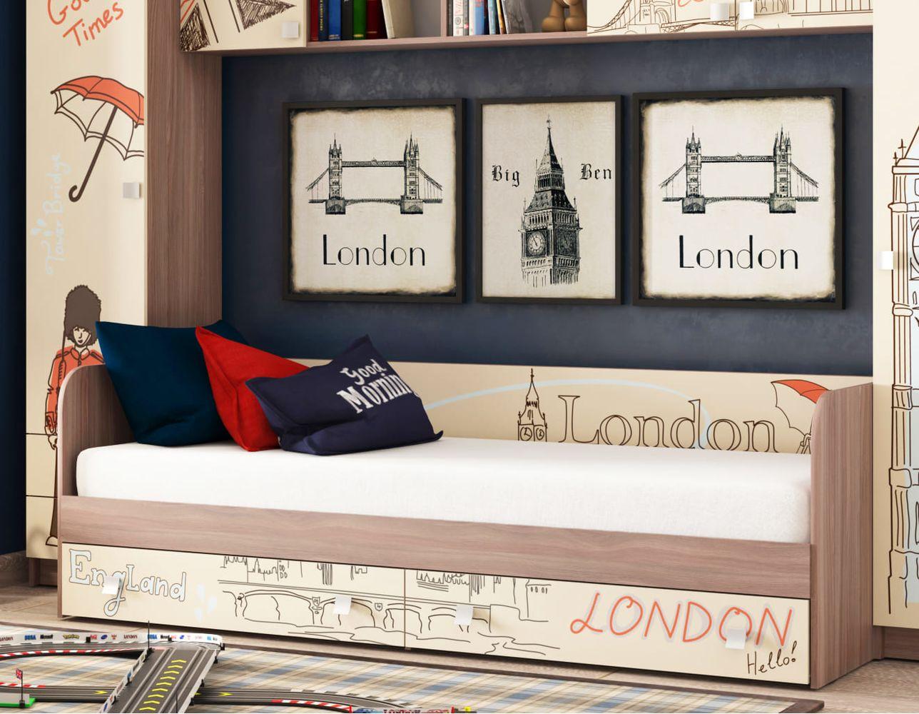 """Кровать для детской КР-21 """"Лондон"""""""