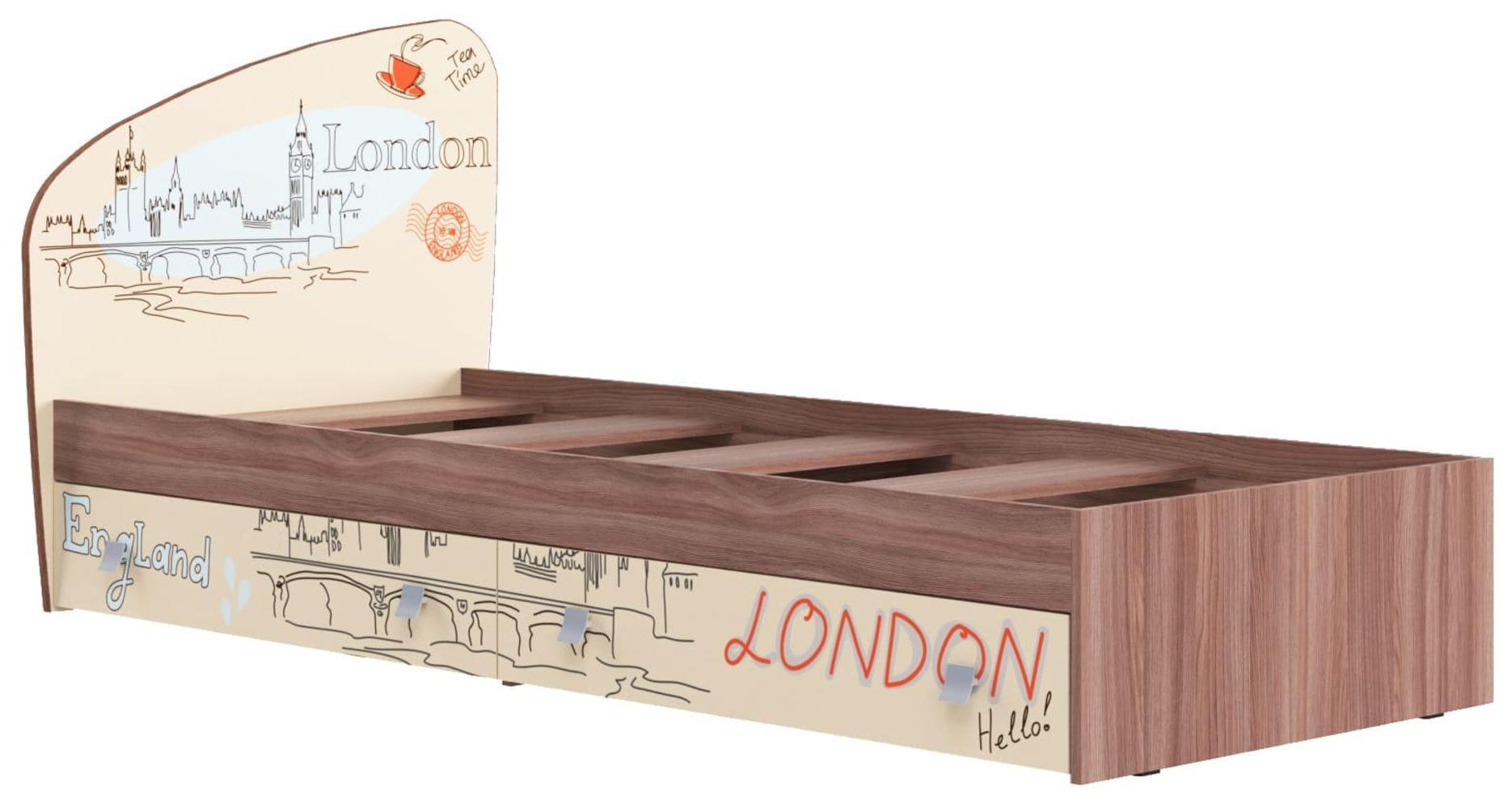 """Кровать для детской КР-19 """"Лондон"""""""