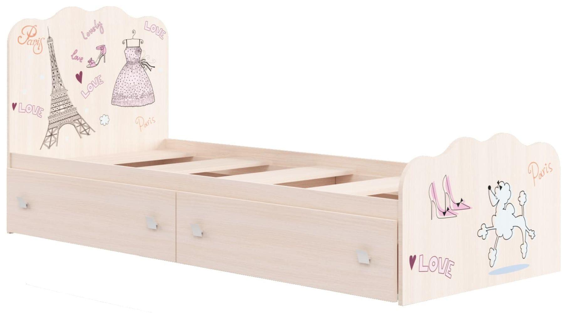 """Кровать для детской КР-18 """"Париж"""""""